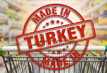 -Made in Turkey- on all Turkish products