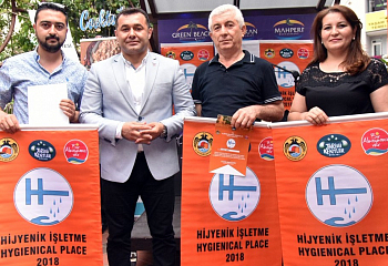 The Mayor of Alanya handed out orange flags